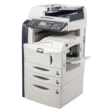 Kyocera KM-4050 photocopier with duplex and trolley